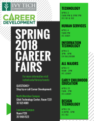 Student Flyer - Spring 2018 Career Fairs