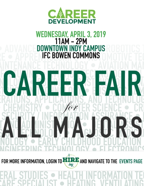 Career Fair for All Majors flyer